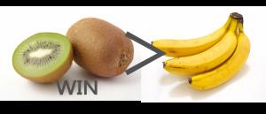 キウイとバナナ